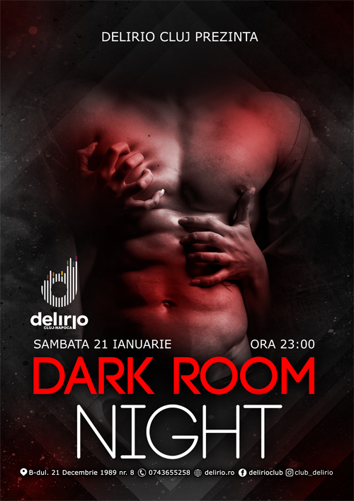 sambata 21 ianuarie: DARK ROOM NIGHT