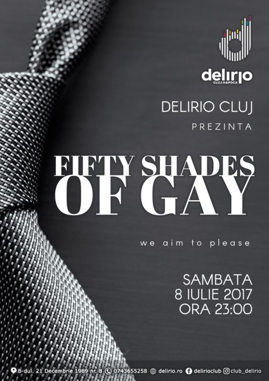 Sambata 8 Iulie: FIFTHY SHADES OF GAY