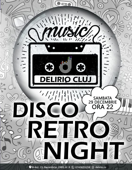 Sambata 29 decembrie 2018: DISCO RETRO NIGHT